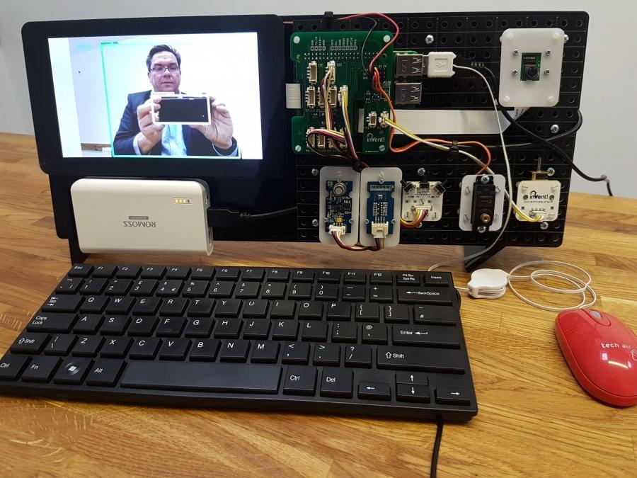 Artificial Intelligence on the Raspberry Pi using Invent!